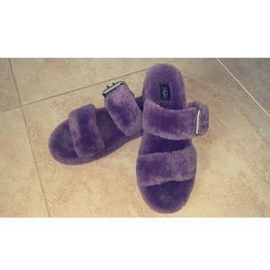 RARE UGG Australia Fluff  sheepskin fur slipper